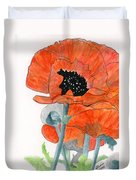 Prize Poppies Duvet Cover