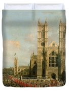 Procession Of The Knights Of The Bath Duvet Cover