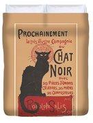 Prochainement La Tr?s Illustre Compagnie Du Chat Noir (poster For The Company Of The Black Cat) Duvet Cover