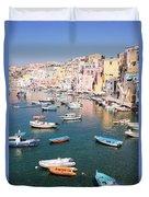 Procida Island, Italy Duvet Cover