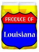 Produce Of Louisiana Shield Duvet Cover