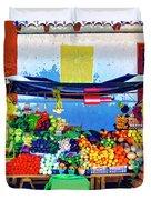Produce Seller Duvet Cover