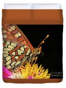 Profile Of A Butterfly Duvet Cover