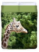 Profile Of A Giraffe Duvet Cover