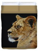 Profile Of A Lioness Duvet Cover