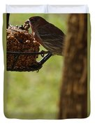 Profile Of A Male House Finch Duvet Cover