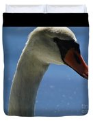 Profile Of A Swan Duvet Cover
