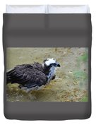 Profile Of An Osprey In Shallow Water Duvet Cover