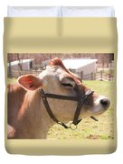 Profile Of Brown Cow Duvet Cover