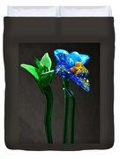 Profile Of Glass Flowers Duvet Cover