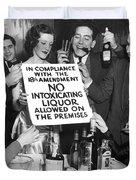 Prohibition Ends Let's Party Duvet Cover
