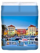 Prokurative Square In Split Evening Colorful View Duvet Cover
