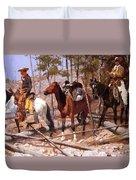 Prospecting For Cattle Range 1889 Duvet Cover