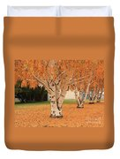 Prosser - Autumn Birch Trees Duvet Cover