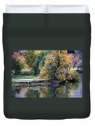 Prosser - Autumn Reflection With Geese Duvet Cover