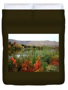 Prosser Autumn River With Hills Duvet Cover by Carol Groenen