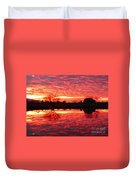 Dramatic Orange Sunset Duvet Cover
