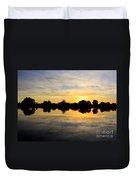 Prosser Sunset - Blue And Gold Duvet Cover