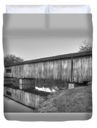 Protection That Works Historic Watson Mill Covered Bridge Duvet Cover