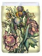 Proud Iris Duvet Cover