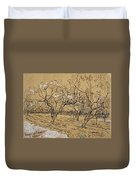 Provencal Orchard Arles  March - April 1888 Vincent Van Gogh 1853  1890 Duvet Cover