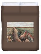Provence Roosters Duvet Cover