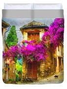 Provence Street Duvet Cover