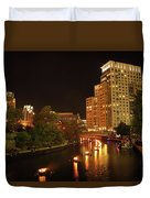 Providence Waterfire Duvet Cover