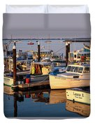 Provincetown Fishing Boats, Ptown, Ma Duvet Cover