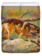 Prowler - Grey Wolf Duvet Cover