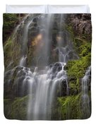 Proxy Falls In Warm Light Duvet Cover