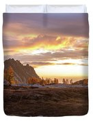 Prusik Peak Golden Cloudscape Duvet Cover