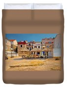 Prvic Luka Waterfront Architecture View Duvet Cover