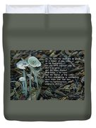 Psalm 103 Temporary And Eternal Duvet Cover