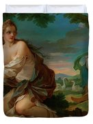 Psyche Gathering The Fleece Of The Rams Of The Sun Duvet Cover