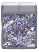 Psychedelic Butterfly Duvet Cover