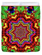 Psychedelic Construct Duvet Cover