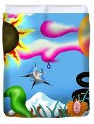Psychedelic Dreamscape I Duvet Cover
