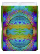Psychedelic Egg Groovy Duvet Cover