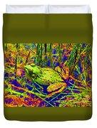 Psychedelic Frog  Duvet Cover