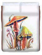 Psychedelic Mushrooms Duvet Cover
