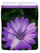 Psychedelic Purple Petals  Duvet Cover