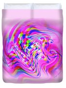 Psychedelic Swirls On Lollypop Pink Duvet Cover
