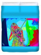 Psychedelic Violinist Duvet Cover