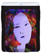 Psychedelic Woman Duvet Cover
