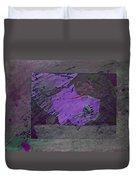 Psycho Warhol Deep Purple Duvet Cover