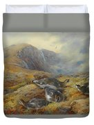 Ptarmigan Danger Aloft By Thorburn Duvet Cover