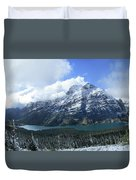Ptarmigan Trail Overlooking Elizabeth Lake 5 - Glacier National Park Duvet Cover