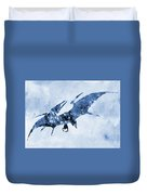Pterodactyl-blue Duvet Cover
