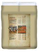 Ptolemy: Almagest, 1490 Duvet Cover